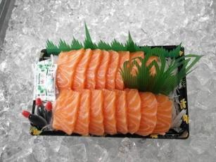 【日本】三文鱼包装摆盘